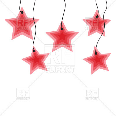 400x400 Hanging Red Stars