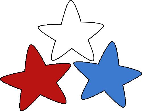 500x392 Patriotic Stars Clip Art