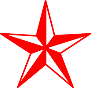 298x288 Red And White Star Clip Art