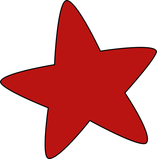 500x508 Red Rounded Star Clip Art
