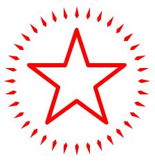224x232 Red Shiny Star Clip Art Cliparts