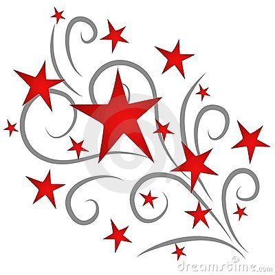 400x400 Red Shooting Star Clipart