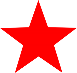 300x285 Red Star Clip Art