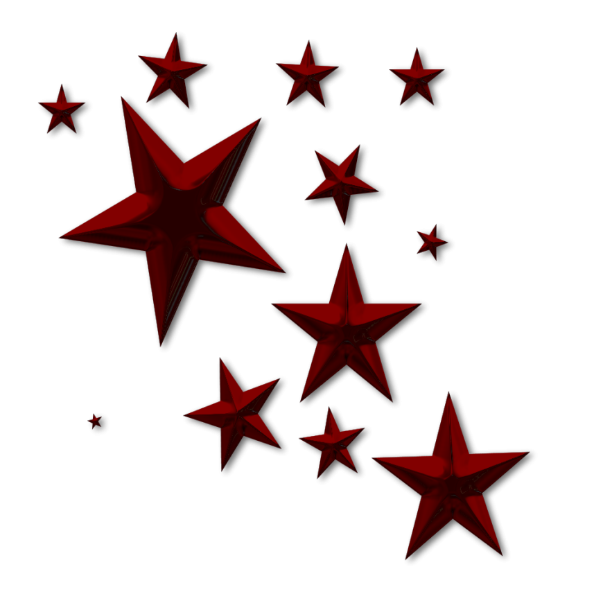 870x870 Red Stars Clipart