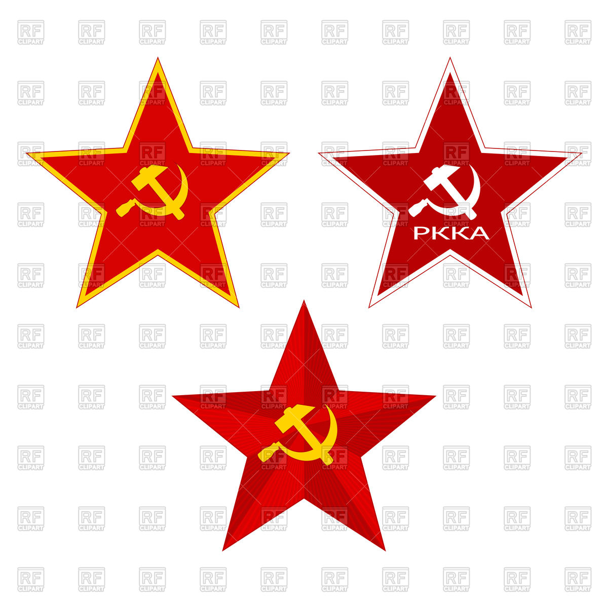 1200x1200 Red Ussr Star With Hammer And Sickle Royalty Free Vector Clip Art