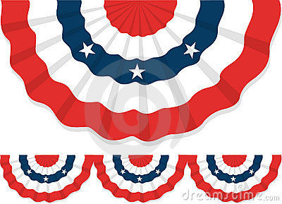 400x289 Bunting Clipart Red And Blue