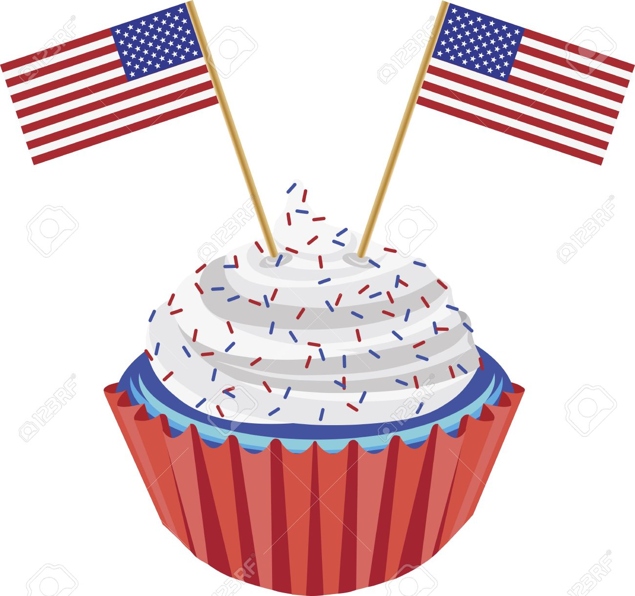 1300x1221 Cake Clipart 4th July