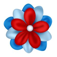 222x222 Flower Clipart Red And Blue