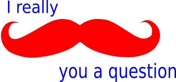 600x281 Mustache You A Question Red White And Blue Clip Art