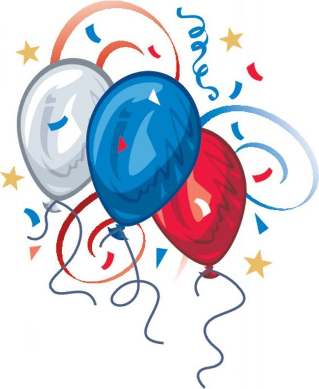 657x800 Red White And Blue Birthday Clipart