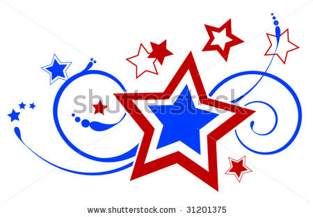 450x313 Red White And Blue Stars Clipart