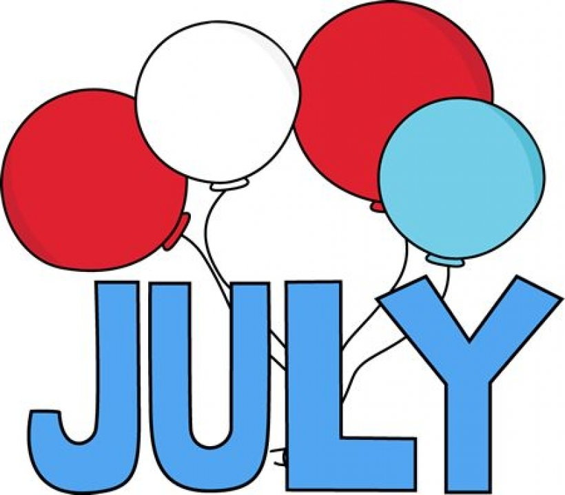 820x719 Free Month Clip Art Red White And Blue July Clip Art Image