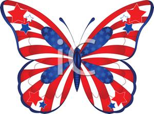 300x222 Art Image A Red White And Blue Butterfly