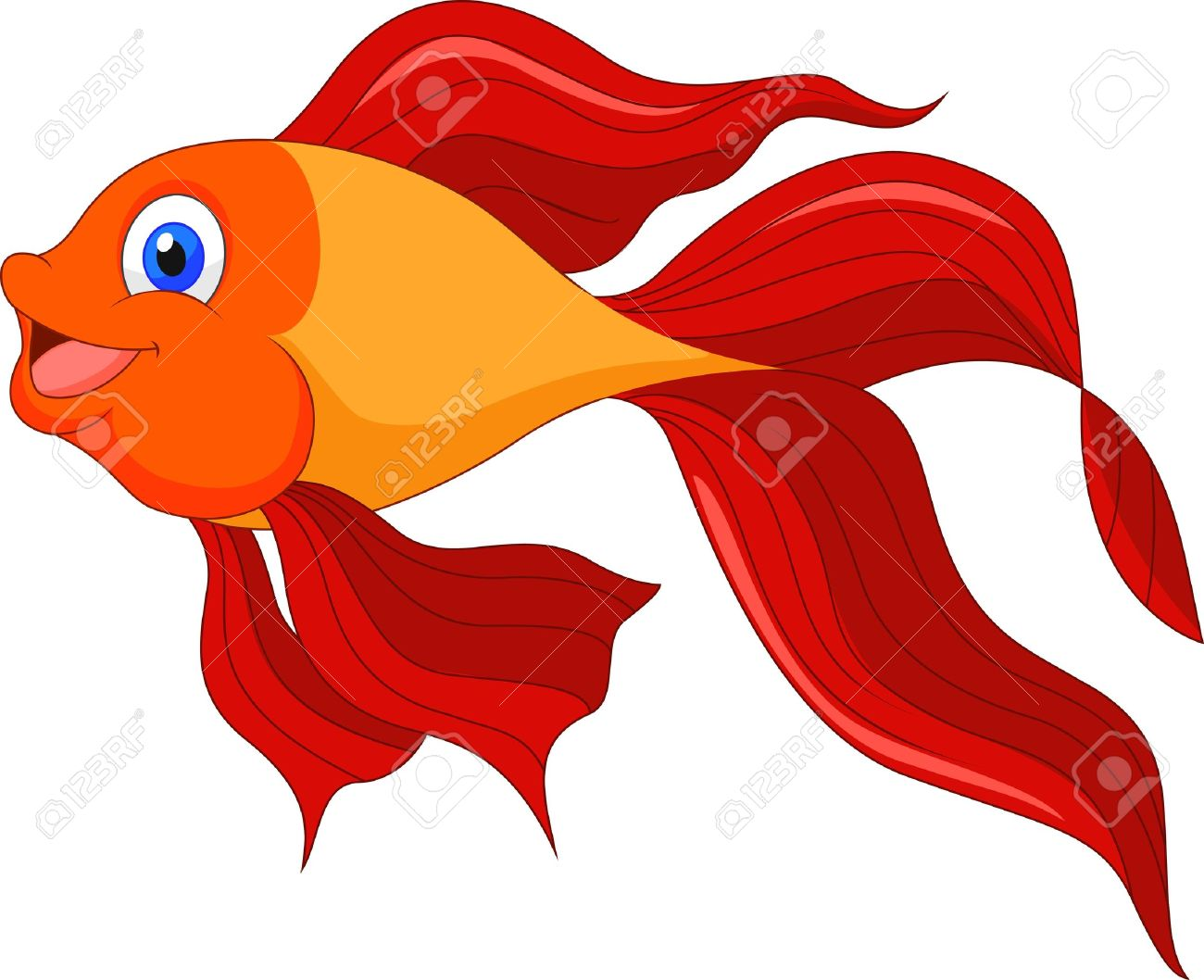 1300x1058 Goldfish Clipart Red Fish