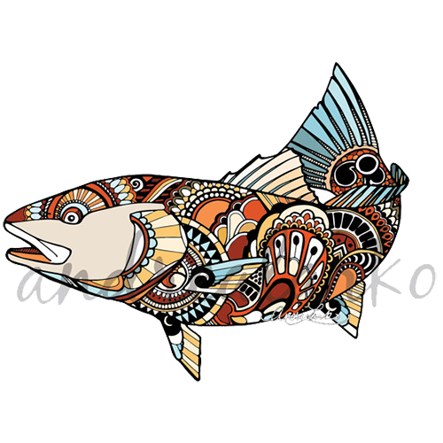500x500 Redfish Pack 6 Stickers