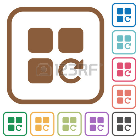 450x450 Redo Component Operation Simple Icons In Color Rounded Square
