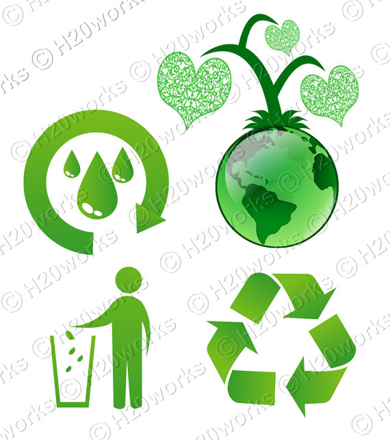 570x643 Green Reduce Reuse Recycle Clip Art Set Transparent