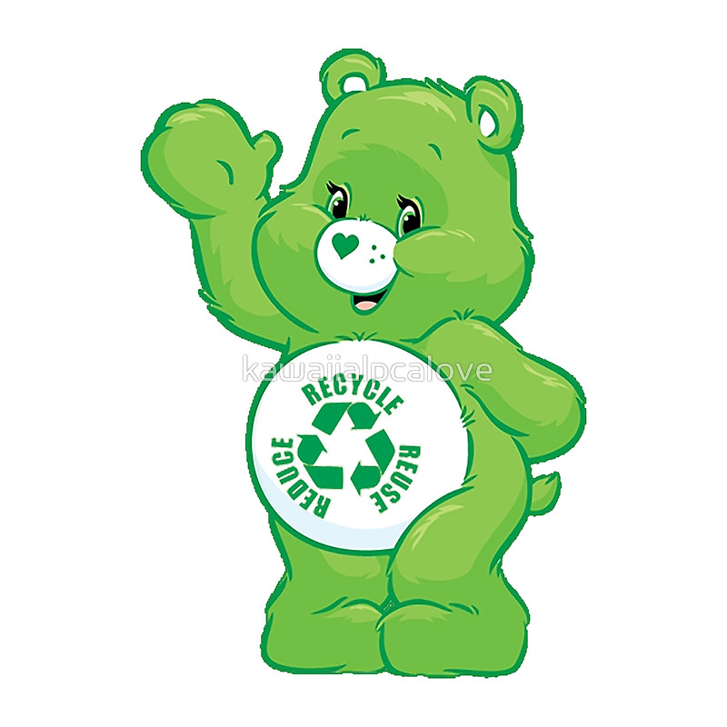 800x800 Recycle Carebear Carebears Care Bear Reduce Reuse Recycle Posters