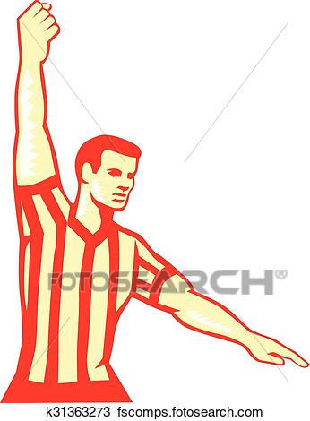 346x470 Clipart Of Basketball Referee Stop Clock Foul Retro K31363273