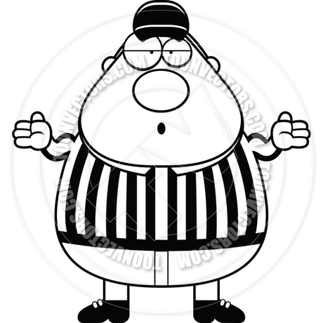 460x460 Confused Referee (Black And White Line Art) By Cory Thoman Toon