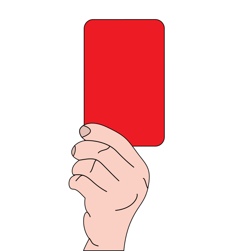800x800 Free Clipart Referee Showing Red Card Casino