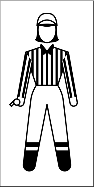 304x604 Clip Art People Sports Officials Football Referee Female Bampw I