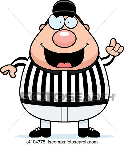 403x470 Clip Art Of Referee Making Call K4104778