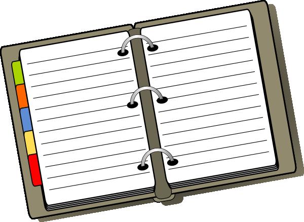 600x438 Organized Binder Clip Art At Clker Com Vector Clip Art Online