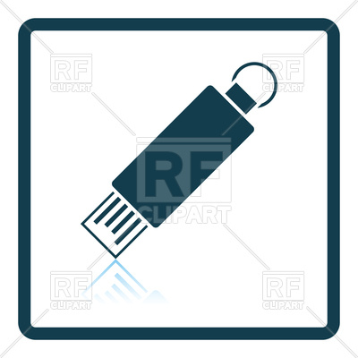 400x400 Shadow Reflection Design Of Usb Flash Icon Royalty Free Vector
