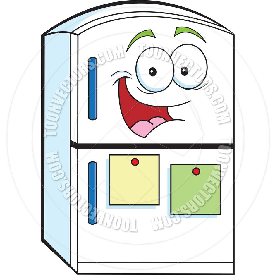 940x940 Cartoon Refrigerator By Kenbenner Toon Vectors Eps