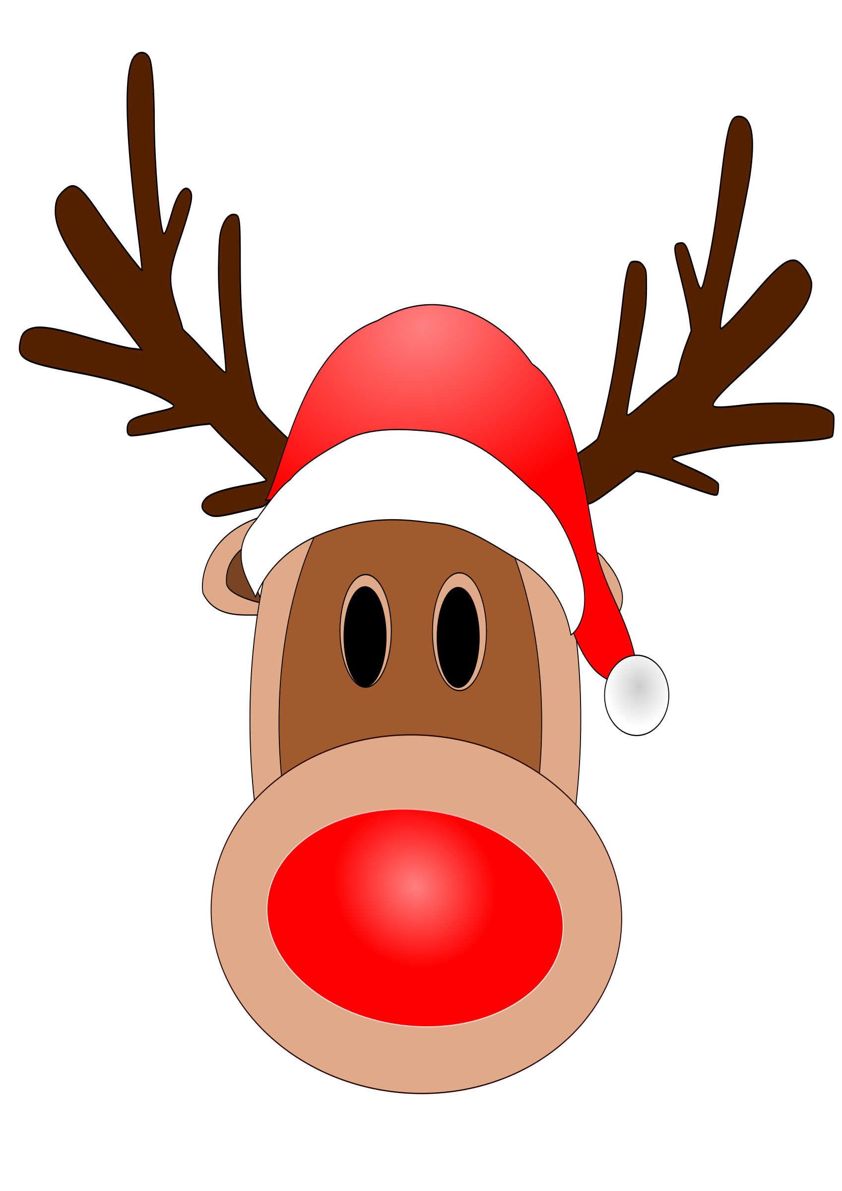 1697x2400 Antler Clipart Red Nose