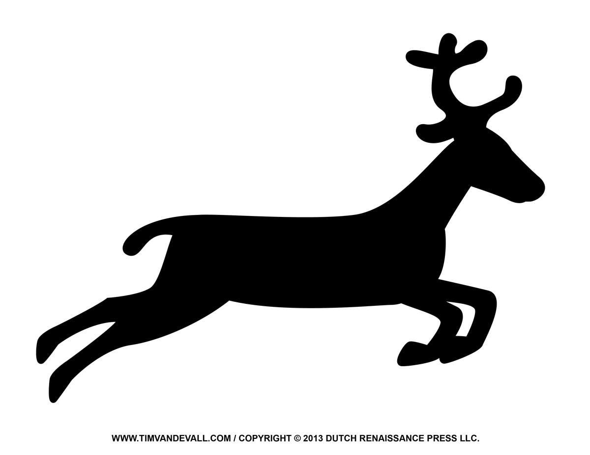 Reindeer Black And White Clipart