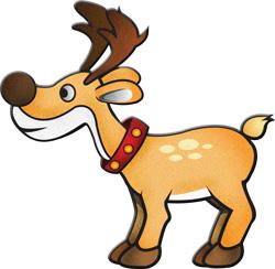 250x244 Reindeer Clip Art Clipart Image