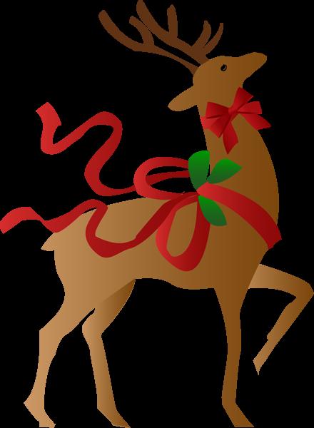 440x600 Christmas Reindeer Clip Art Clipart Photo