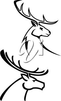 213x350 Reindeer Clipart Black And White Hostted Reindeer