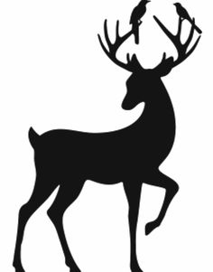 236x301 Deer Head Silhouettes