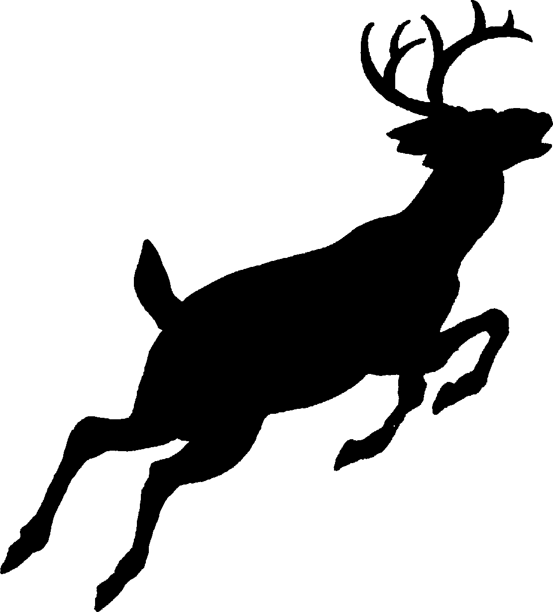 1111x1229 Deer Antlers Clipart Black And White Free