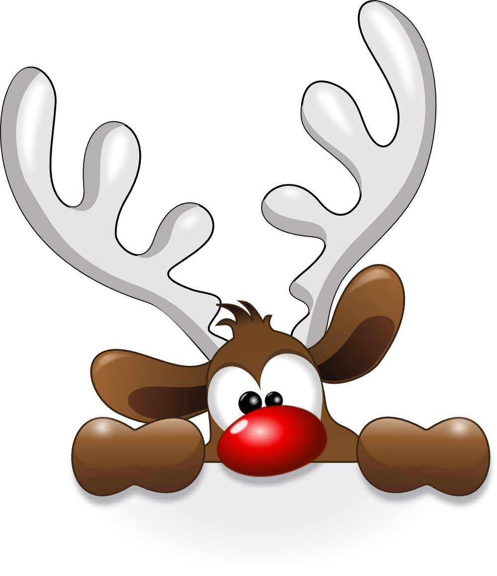 999x1159 Funny Reindeer Christmaswinter Decor Amp Ideas Clip