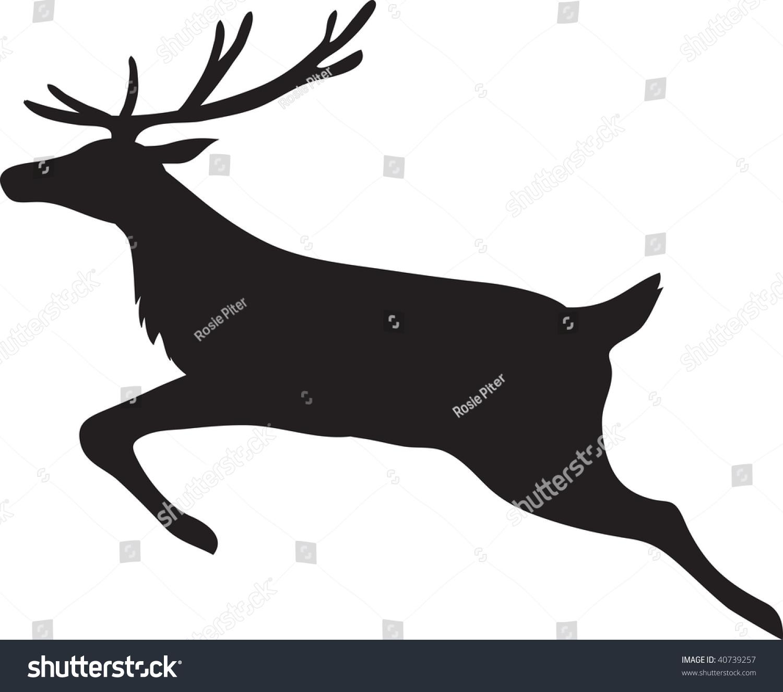 1500x1324 Reindeer Running Clipart