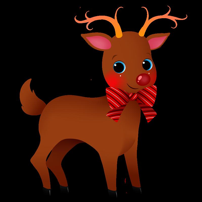 800x800 Reindeer Clip Art Image