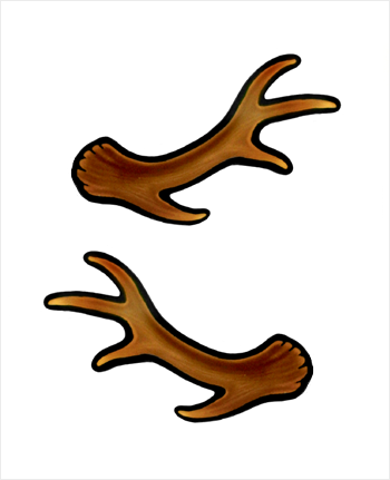 350x431 Cartoon Antlers Clipart