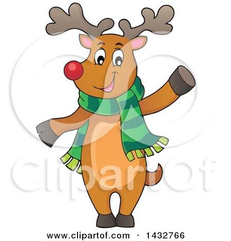 450x470 Clipart Four Christmas Reindeer Faces