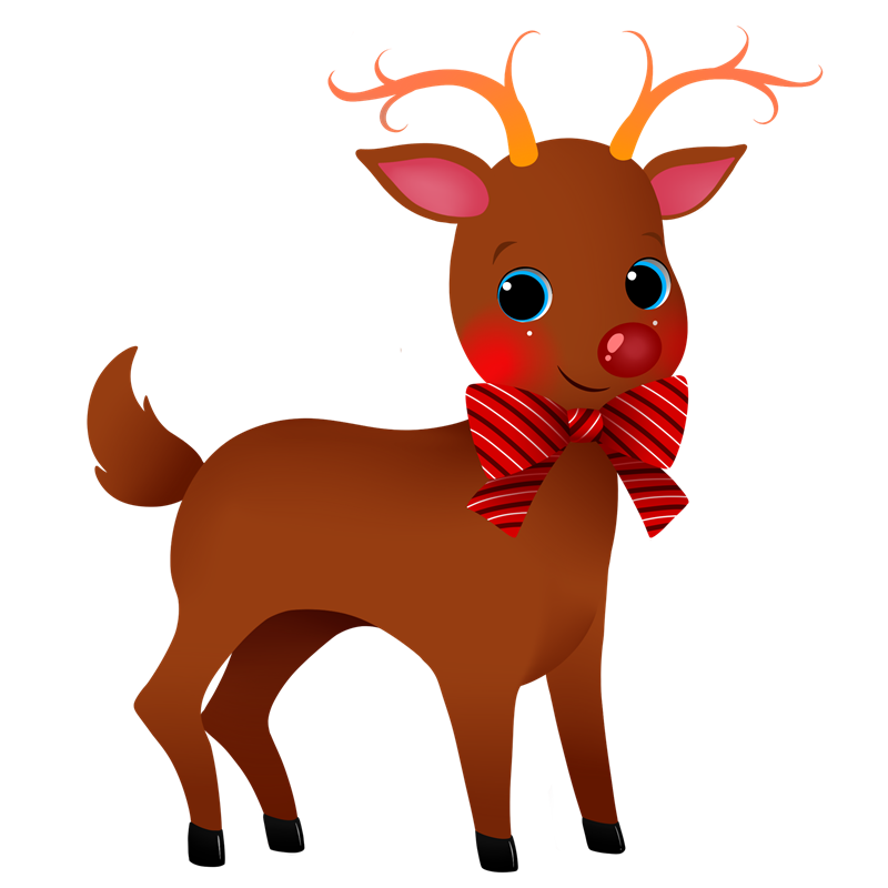800x800 Free Clipart Of Reindeer