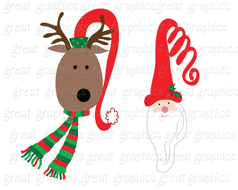 800x640 Free Santa And Reindeer Clipart