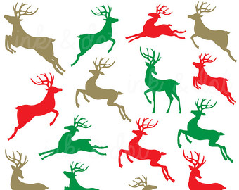 340x270 Reindeer Clip Art Etsy