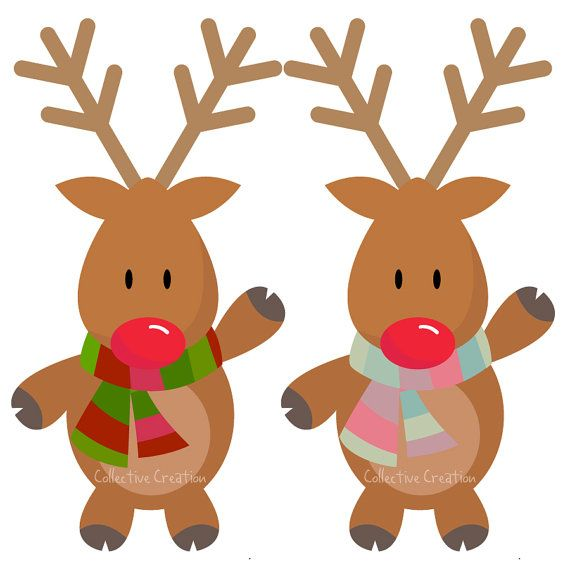 570x570 This Digital Clipart Set Comes With 2 Separate Reindeers. Each
