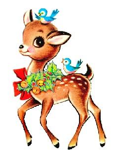 237x325 Vintage Reindeer Clipart