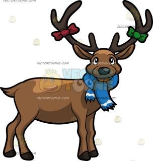 304x320 Deer Clipart