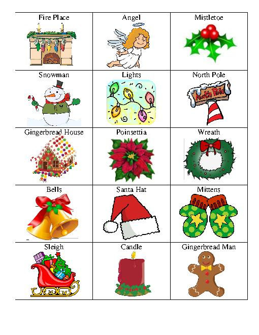 510x660 Family Christmas Games Clipart