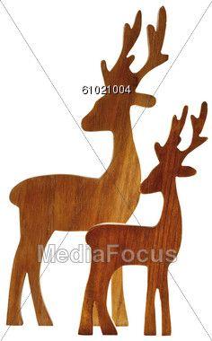 236x380 Free Reindeer Wood Patterns Reindeer Figurines Made Wood Clipart